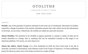 otoliths about